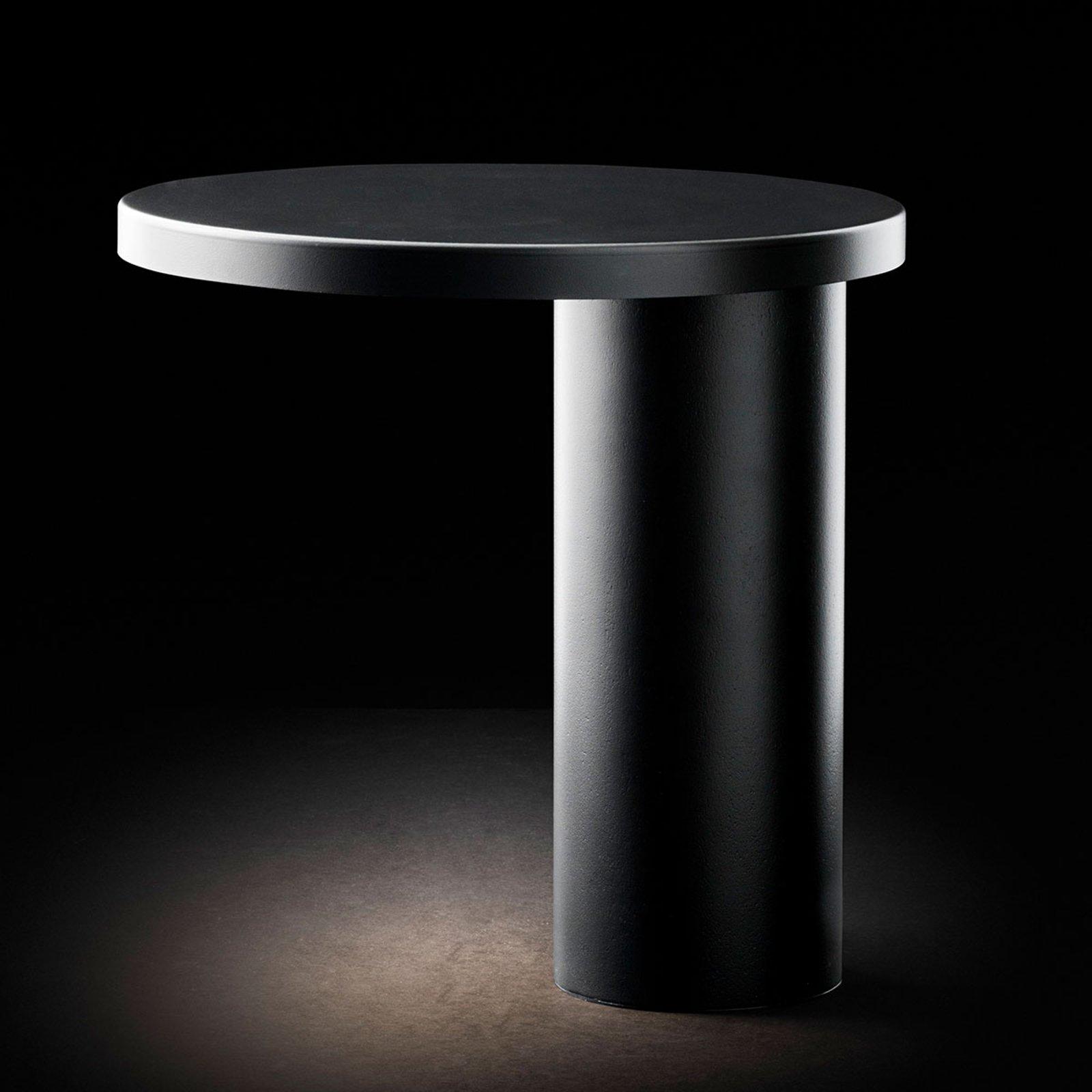 Oluce Cylinda LED-bordlampe, svart
