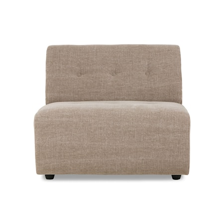 Vint couch Soffmodul Mitten Linneblandning Taupe