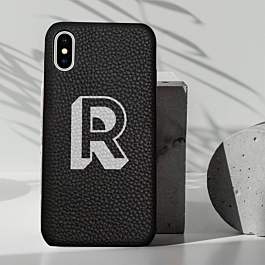 iPhone X Genuine Leather Printed Case