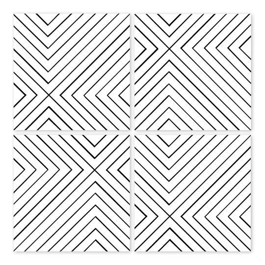 Boubouki - Kakeldekor Labyrint 15x15 cm 4-pack Transparent