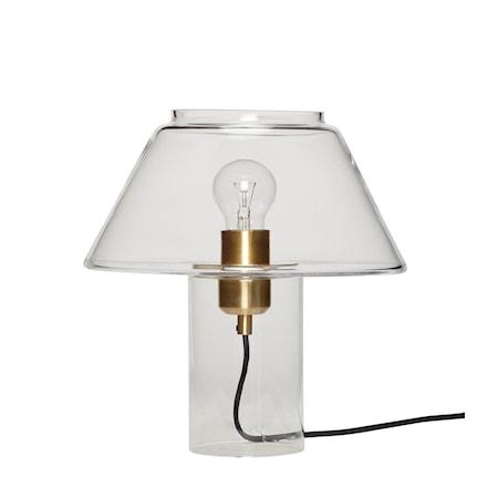 Bordslampa Glas Klar 29cm