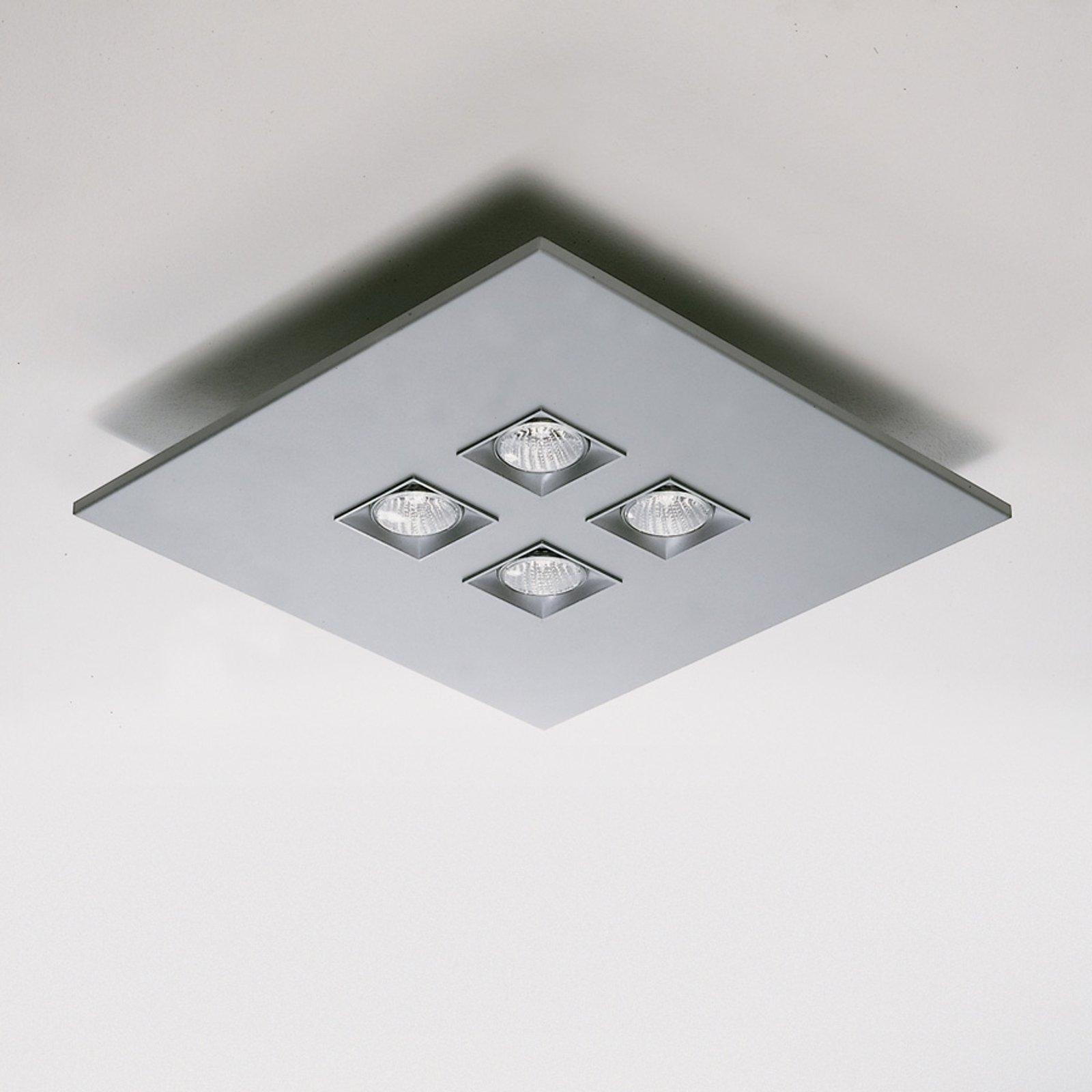 Taklampe Polifemo grå metallic 4 lys