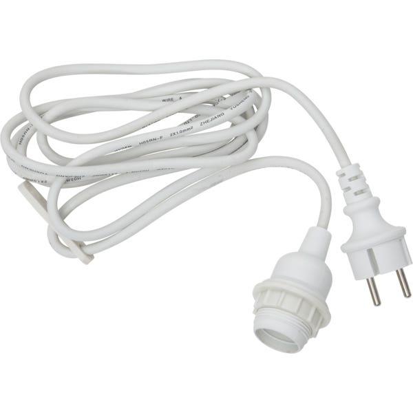 Star Trading Kabel E27 Ute Hvit 5cm