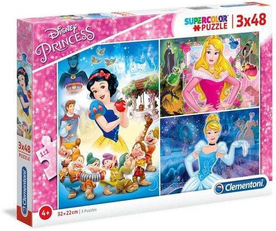 Disney Princess Puslespill 3x48 Brikker