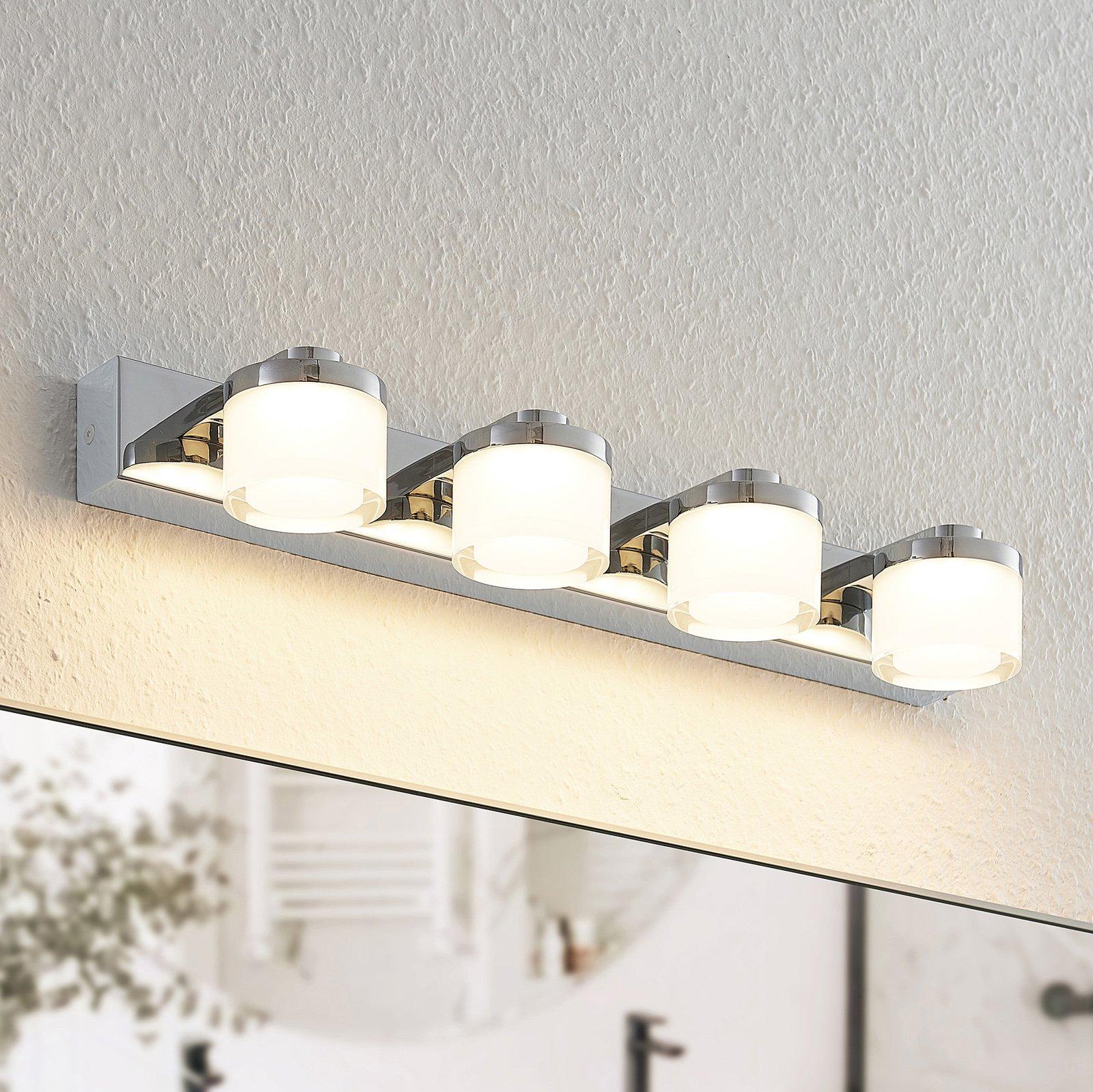 Arcchio Kejan LED-vegglampe, IP44, 4 lyskilder
