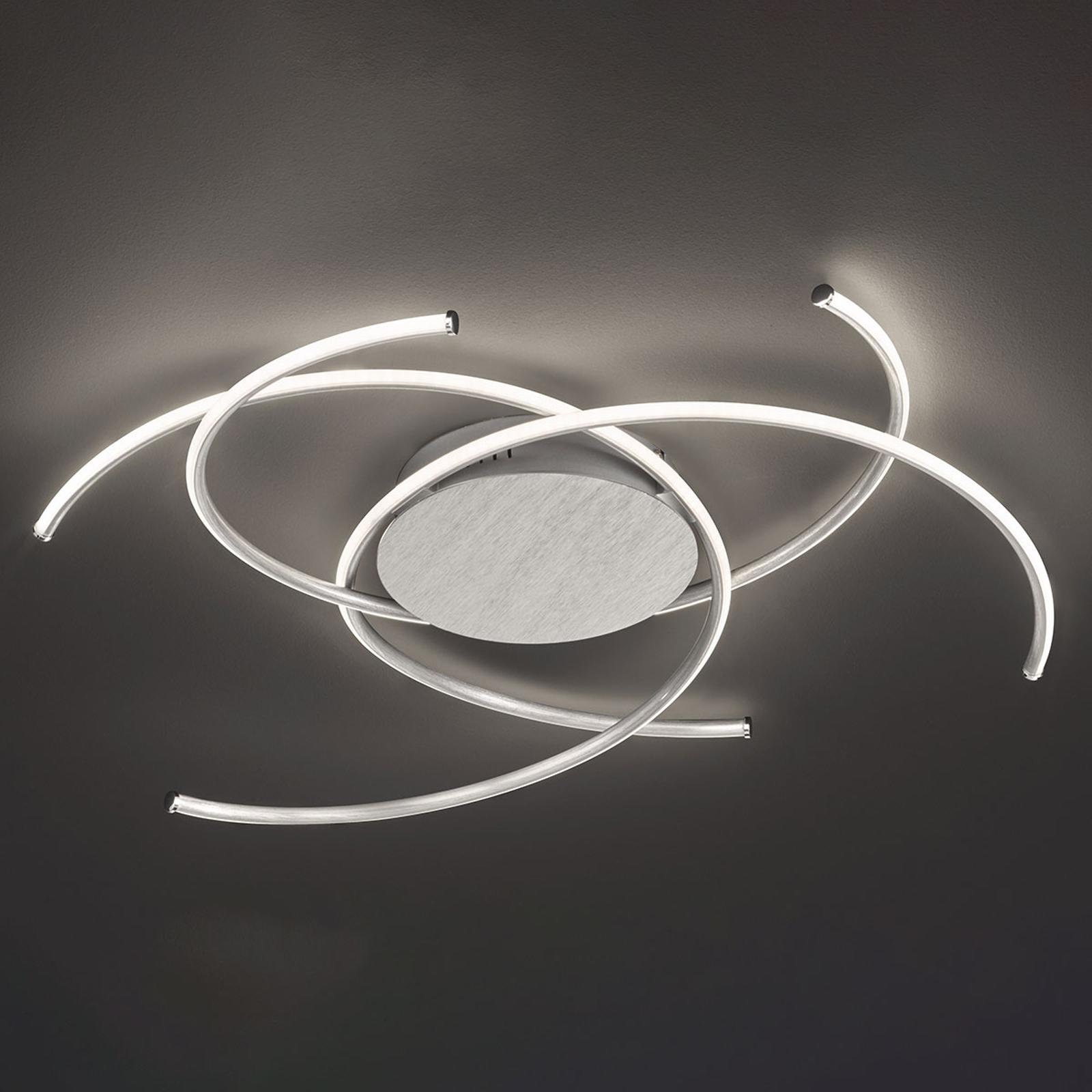 LED-kattovalaisin Juls, alumiini harjattu
