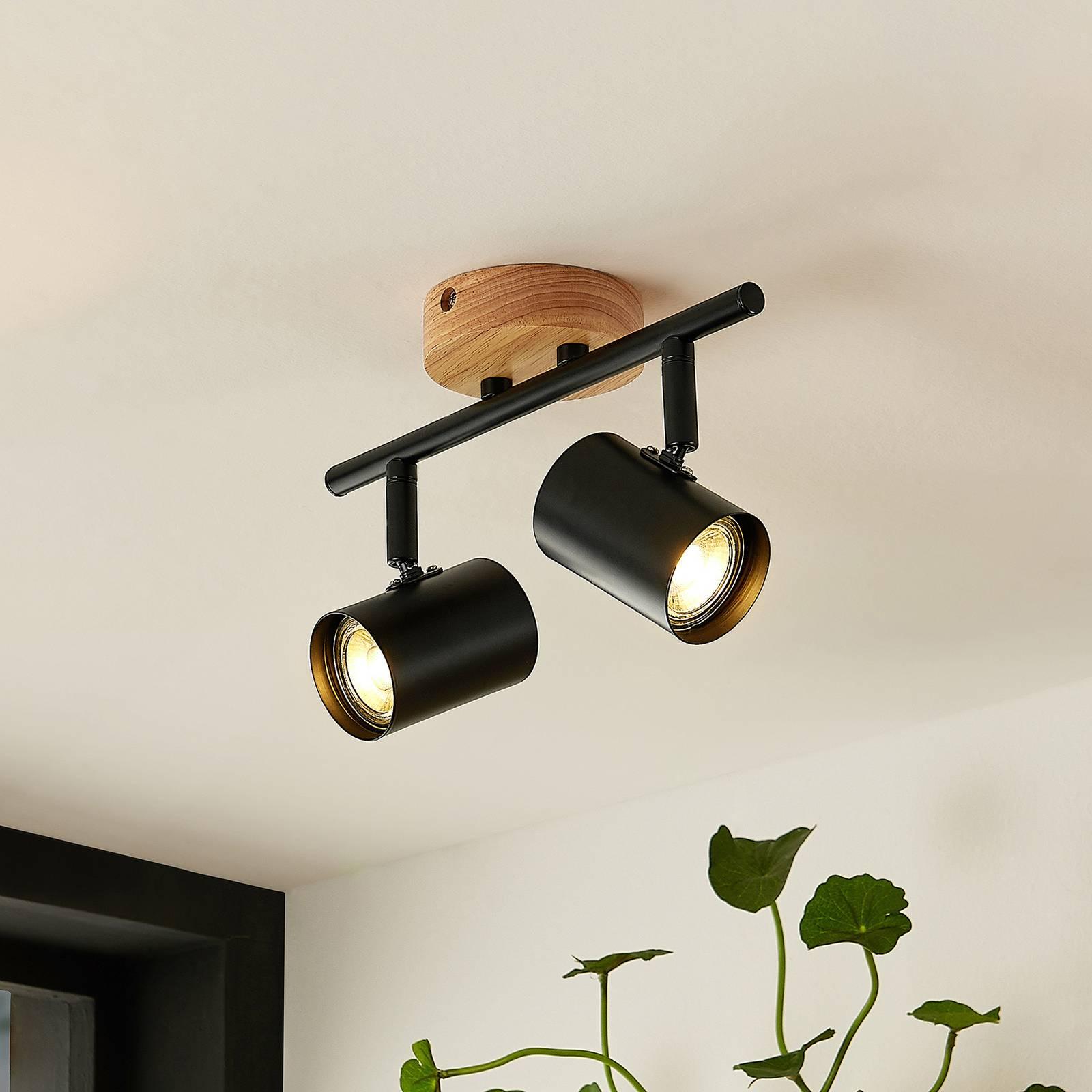 Lindby Xiomara -kattovalaisin, kaksilamppuinen