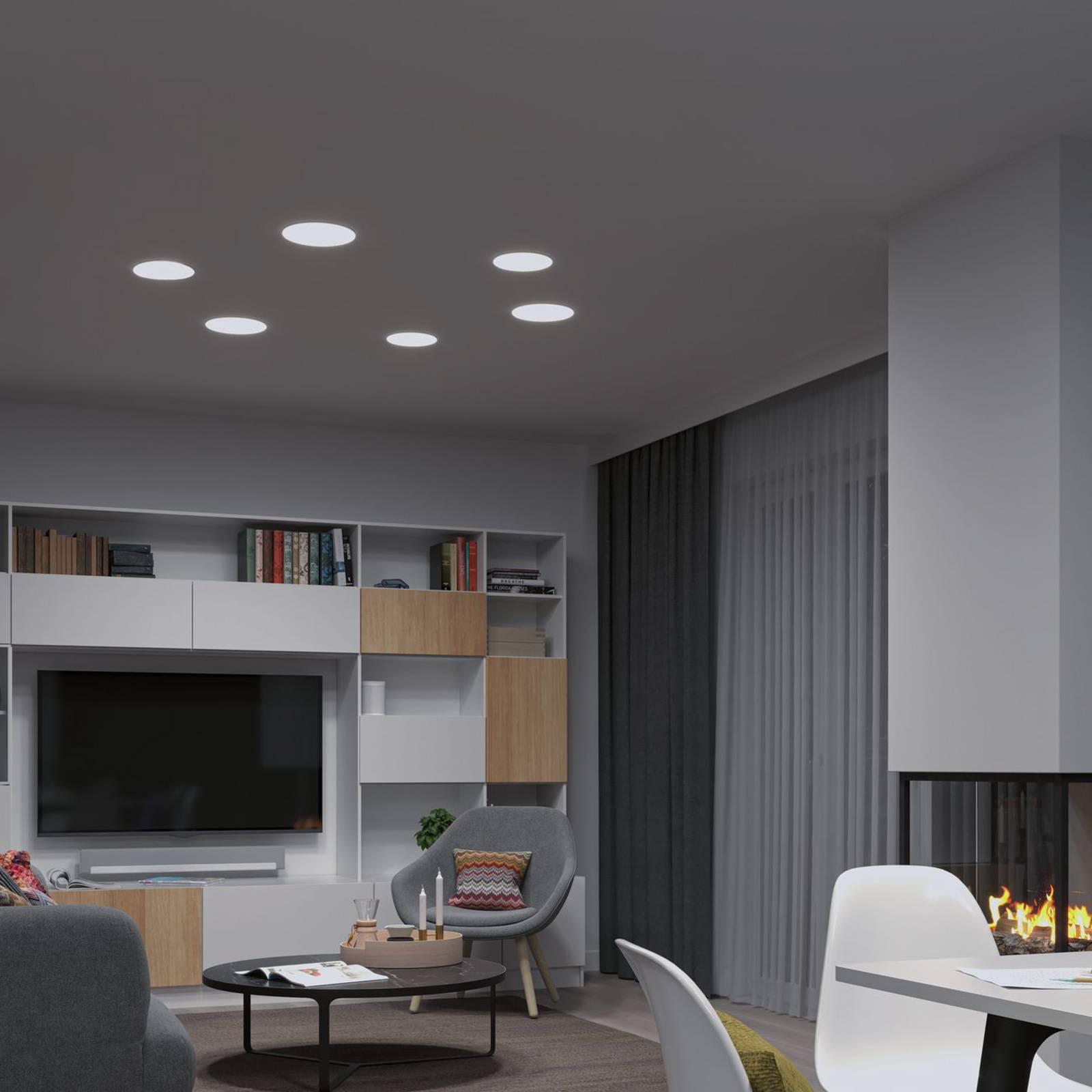 Paulmann-LED-paneeli Veluna, 3-Step CCT 18,5 cm
