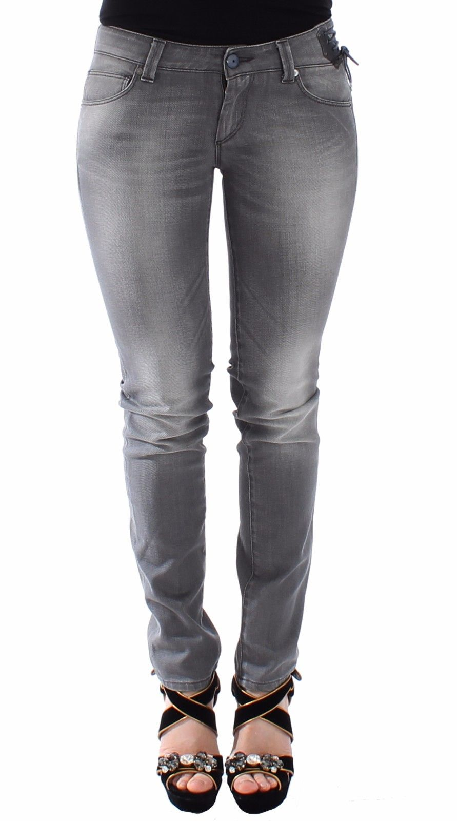 Ermanno Scervino Women's Slim Jeans Grey SIG12683 - IT40