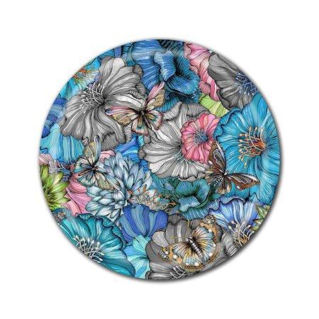Nadja Wedin Design Brett 38 cm Flower Power Blue