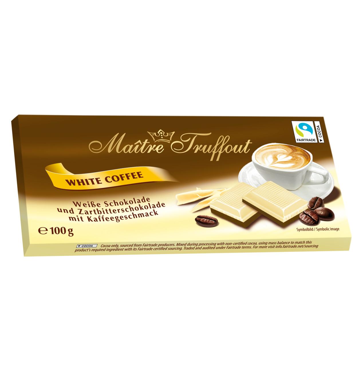 Maitre Truffout White Coffee chocolate 100g