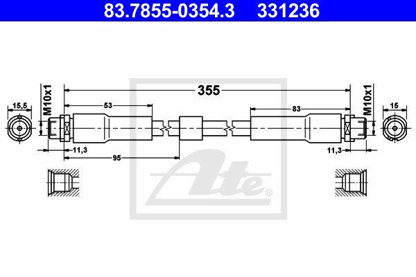 Jarruletku ATE 83.7855-0354.3