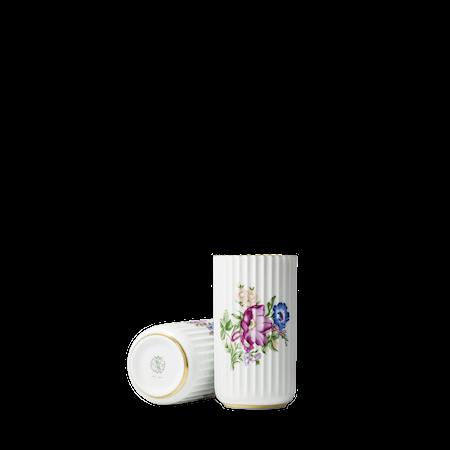 Lyngbyvasen med blomsterdekorasjon Hvit Porselen 15cm