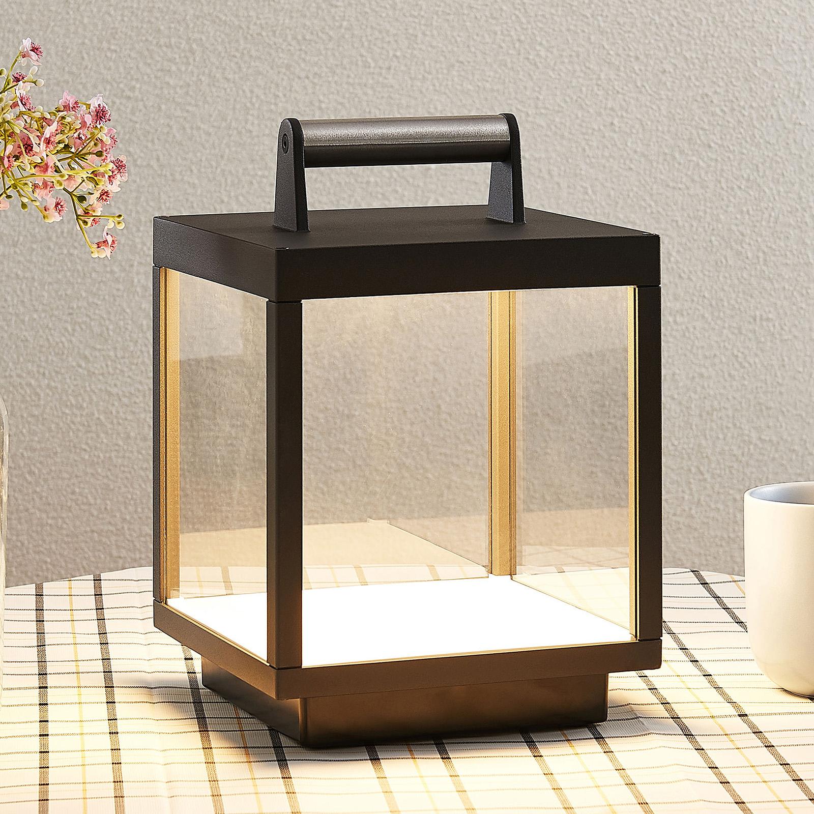 LED-pöytävalaisin Cube ulos, ladattava
