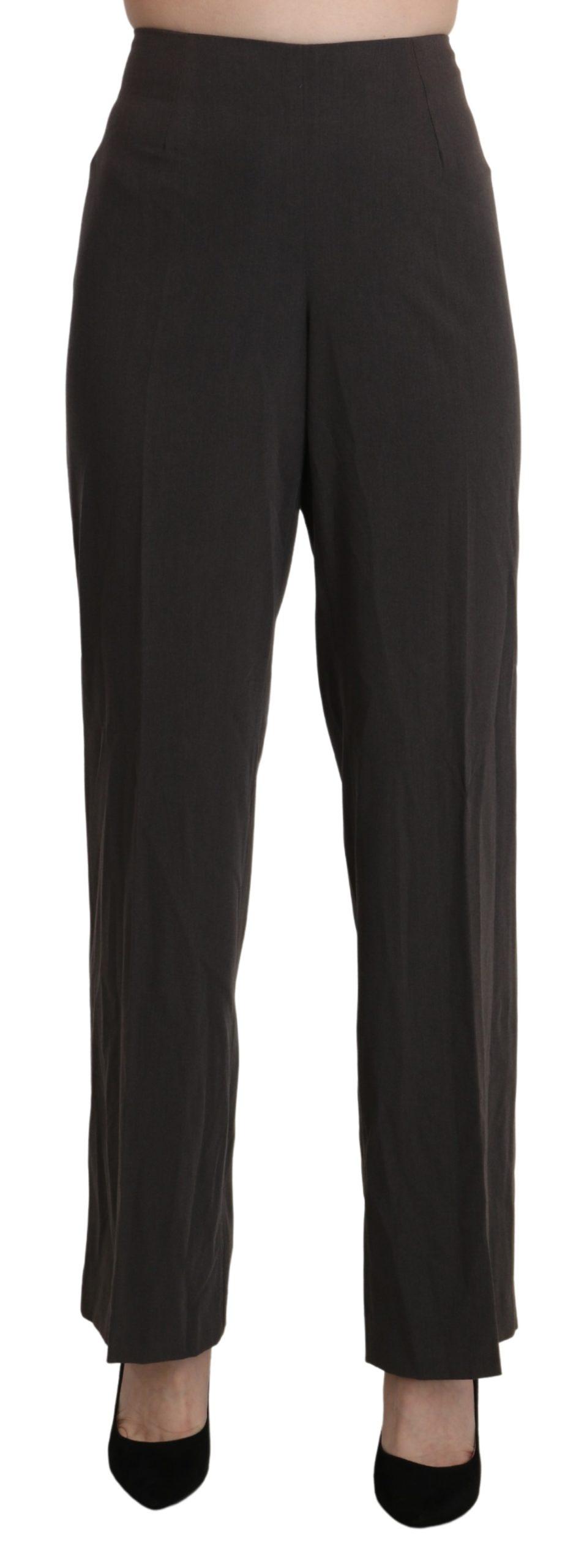 BENCIVENGA Women's High Waist Straight Trousers Grey PAN71339-48 - IT48|XXL
