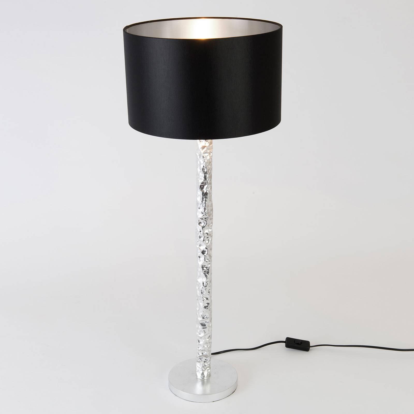 Pöytävalaisin Cancelliere Rotonda musta/hopea 79cm