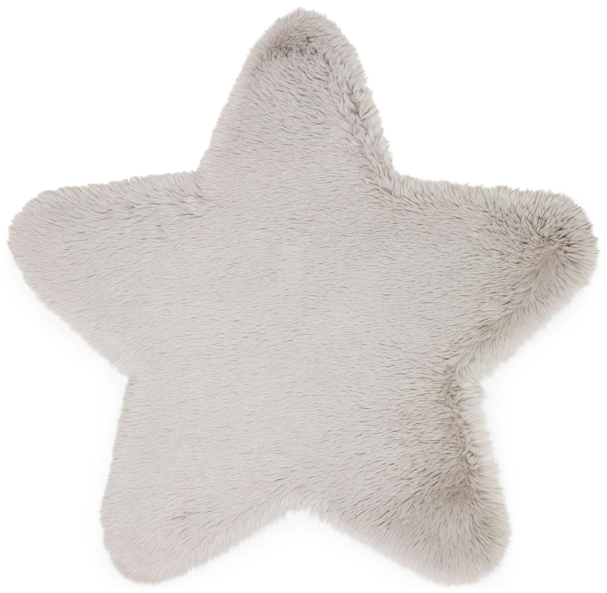 Alice & Fox Matto Fake Fur Star, Silver