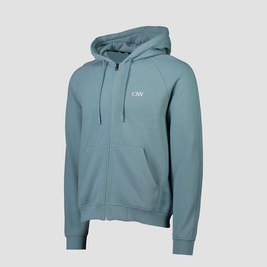 Essential Zipper Hoodie, Pale Blue