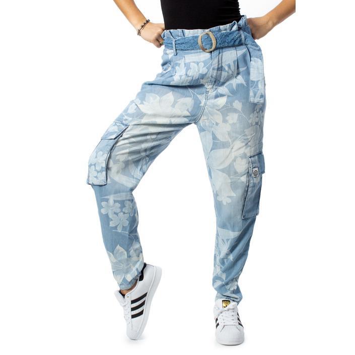 Desigual Women's Trouser Light Blue 170067 - light blue XS