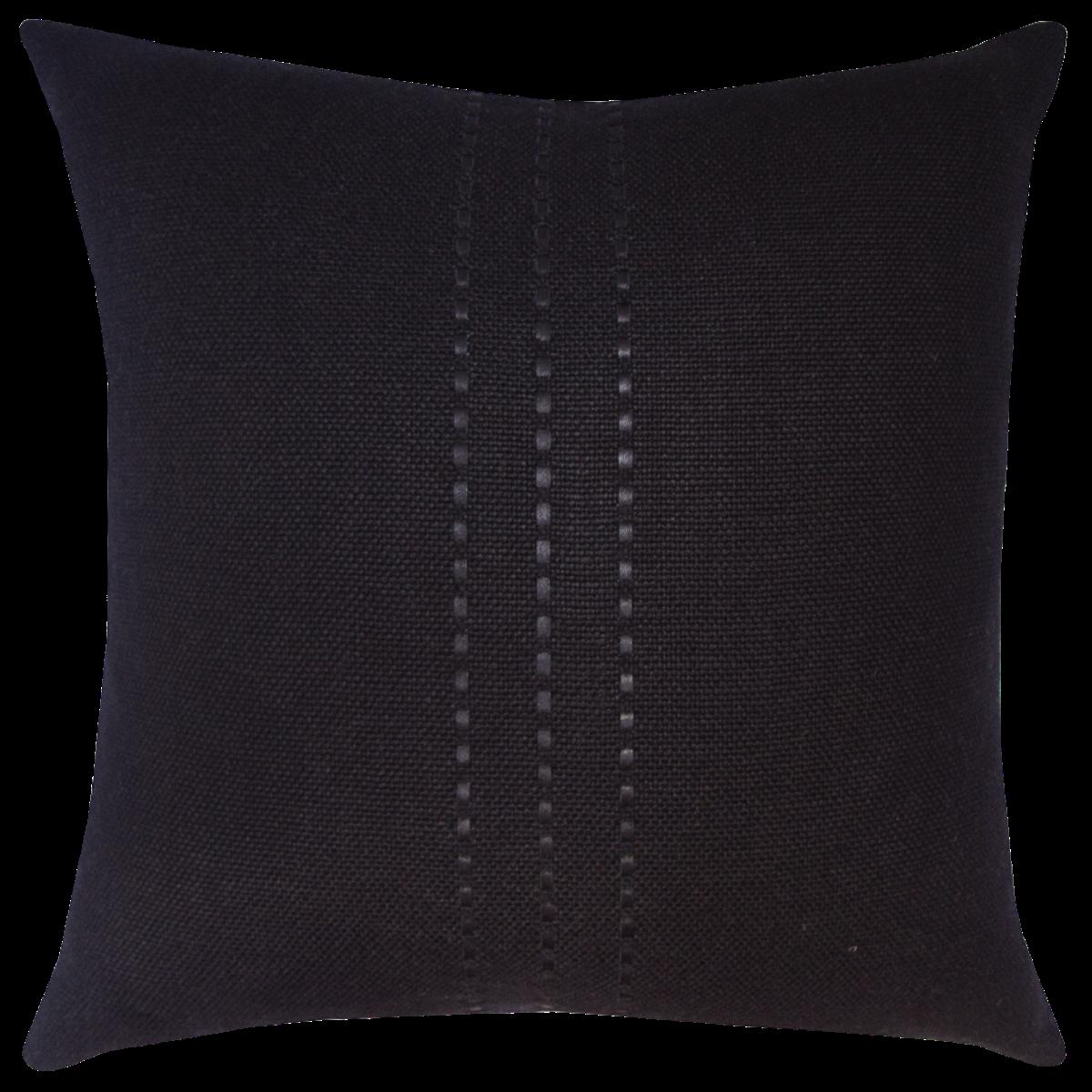 de Le Cuona | Cape Cushion With Leather Detail Coal