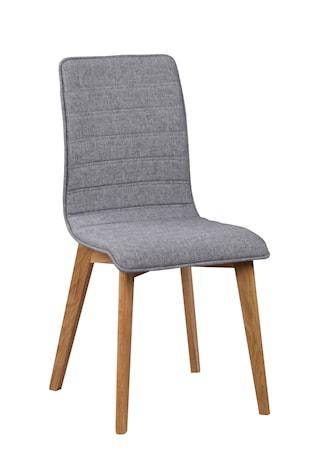 Gracy stol tyg ljusgrå/ek