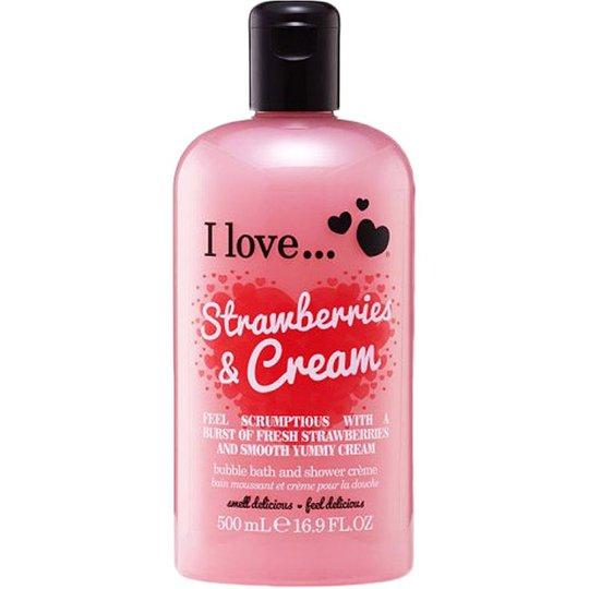 I Love... Strawberries & Milkshake Bath & Shower Crème, 500 ml I love… Suihku- ja kylpytuotteet