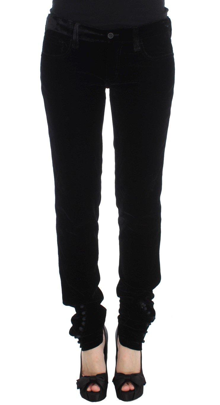 Ermanno Scervino Women's Slim Fit Trouser Black SIG30302 - IT46|XL
