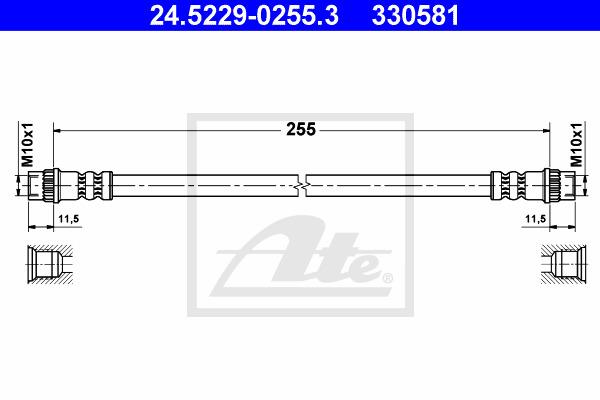 Jarruletku ATE 24.5229-0255.3