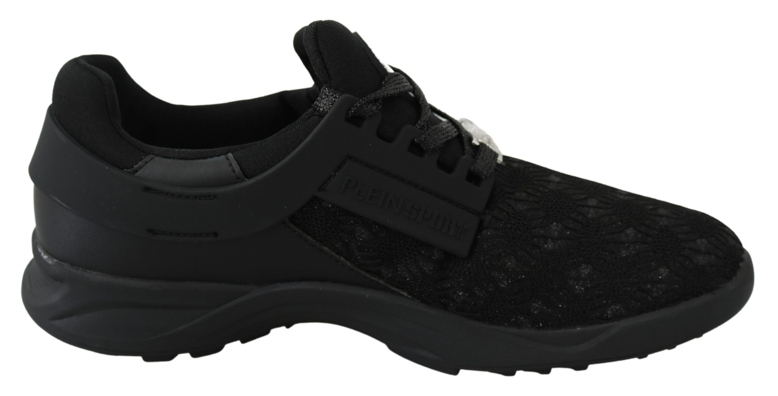 Black Polyester Runner Beth Sneakers Shoes - EU38/US8