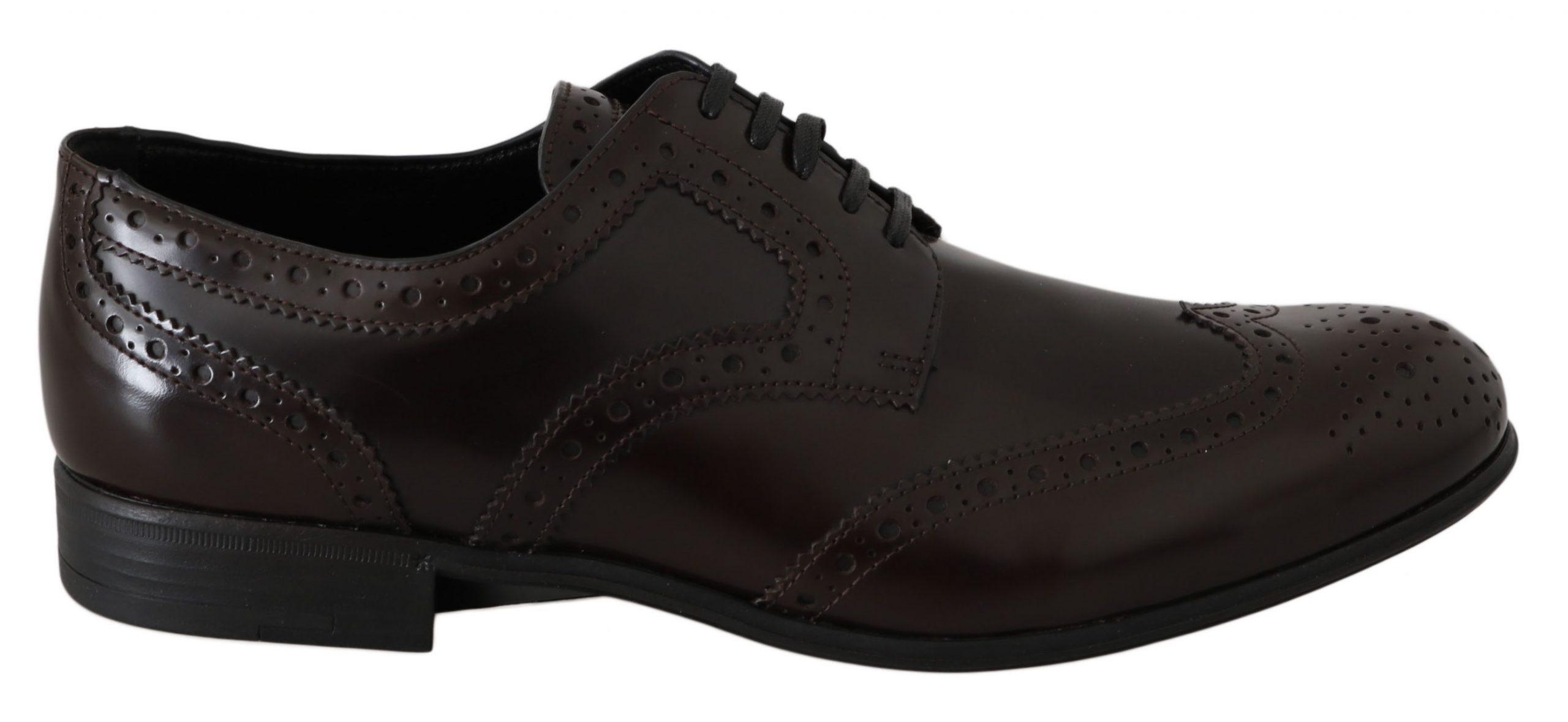 Dolce & Gabbana Men's Brogues Shoes Brown LA5979 - EU39/US8.5