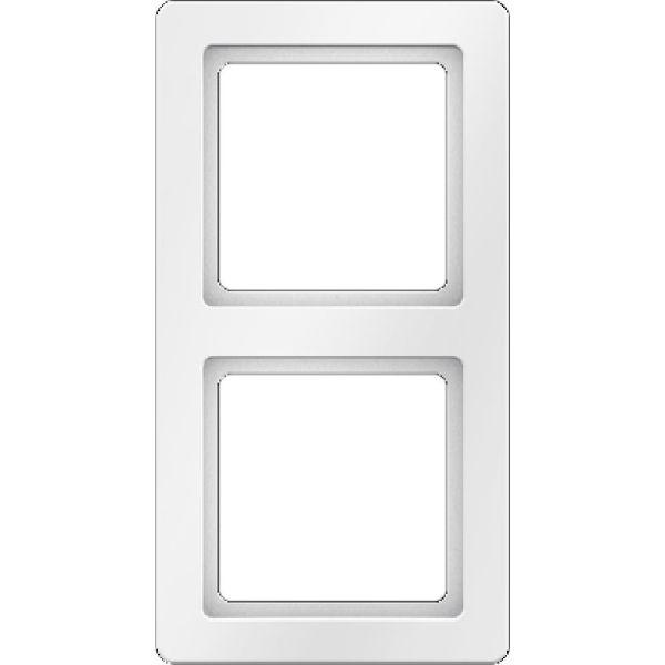 Hager 10126089 Peitekehys 2-paikkainen, valkoinen