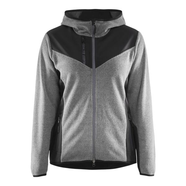 Blåkläder 594125369099XS Jacka stickad, dam, gråmelerad/svart Stl XS
