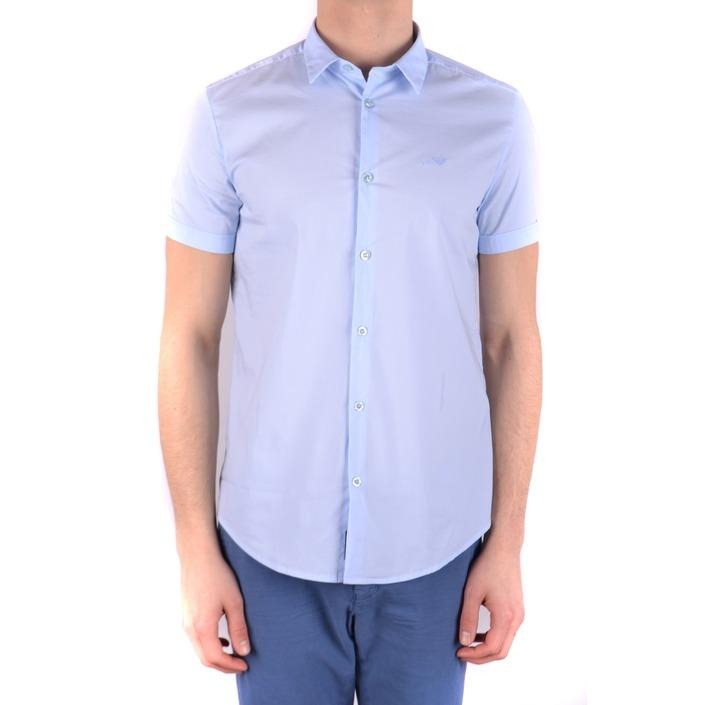 Armani Jeans Men's Shirt Light Blue 160875 - light blue S