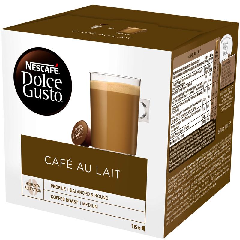 "Kaffekapslar ""Cafe Au Lait"" 16 x 10g - 45% rabatt"