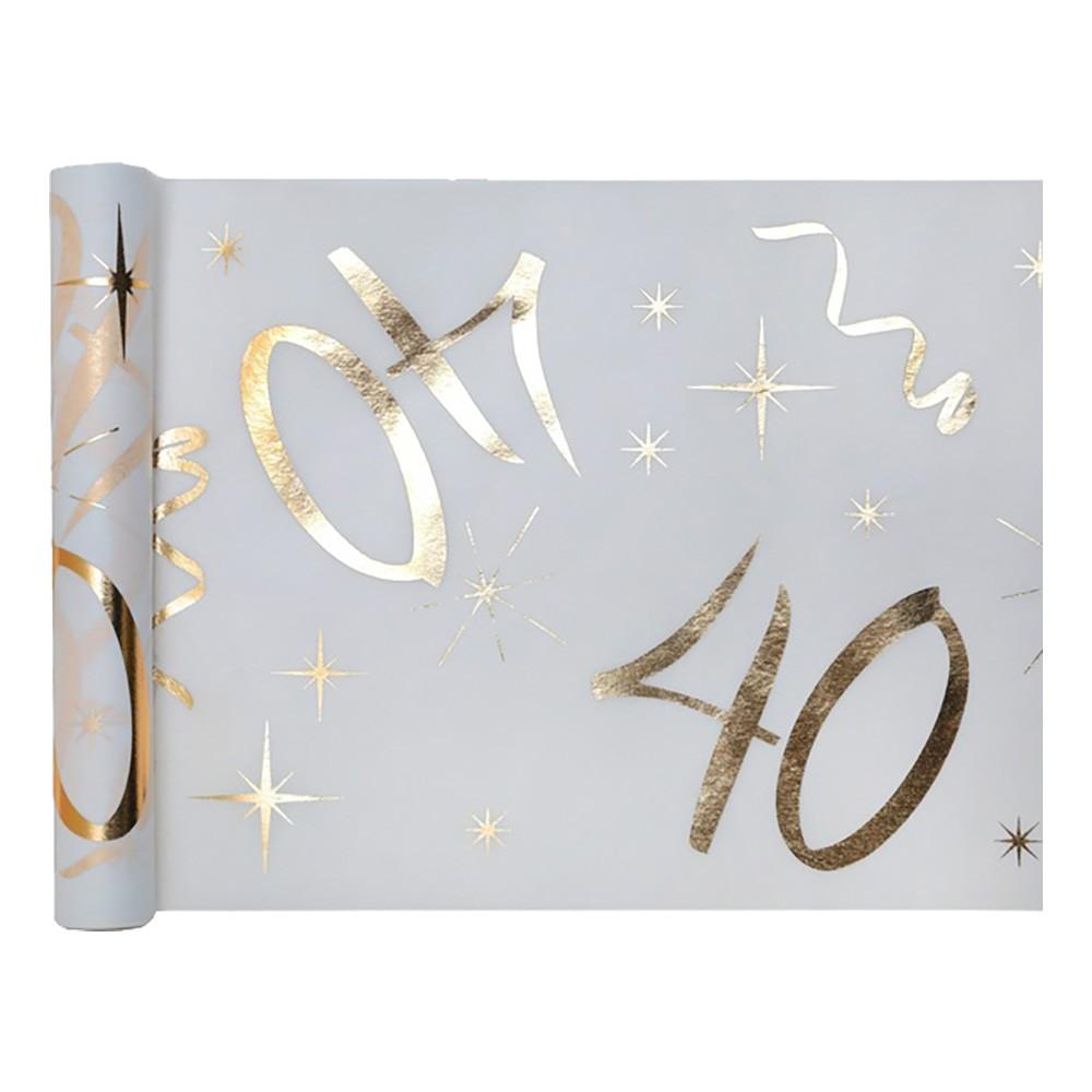 Bordslöpare Siffra Vit/Guld - Siffra 40