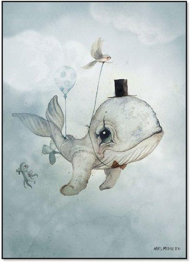 Mrs Mighetto Plakat Dear Whalie 50x70