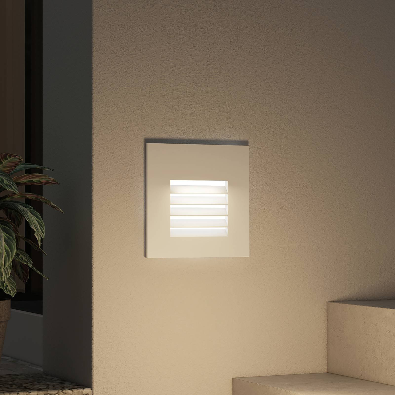 Arcchio Makio LED-innfellingslampe, sølv
