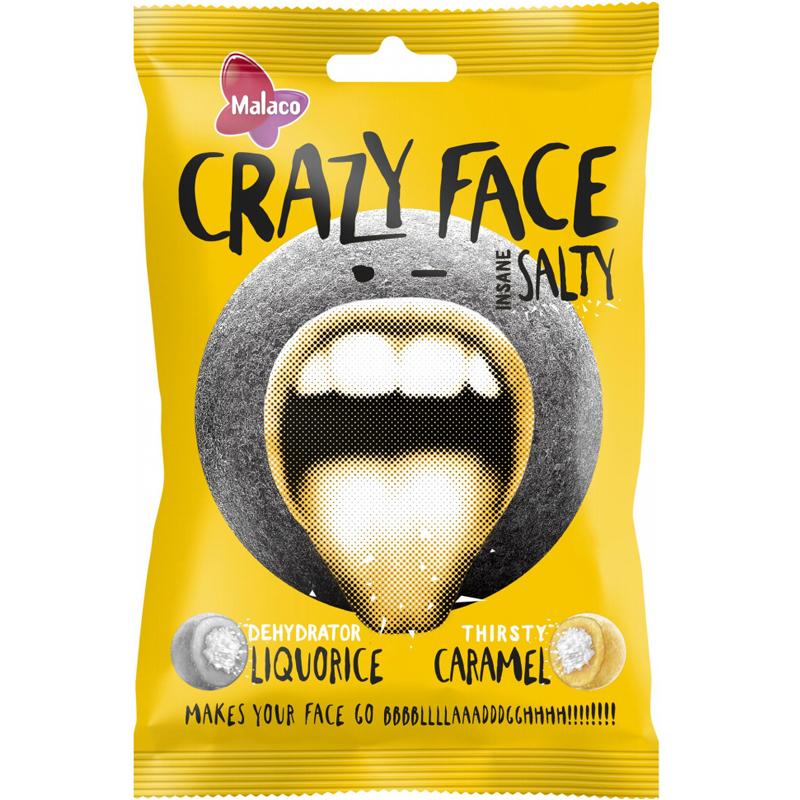 "Godis ""Crazy Face Salty"" 80g - 36% rabatt"