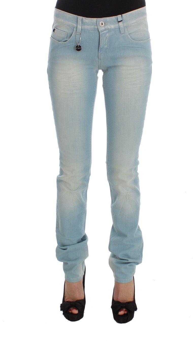 Costume National Women's Cotton Blend Super Slim Fit Jeans Blue SIG32592 - W26