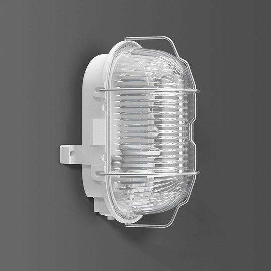 RZB Standard vegglampe E27, plast oval IP44
