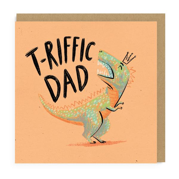 T-Riffic Dinosaur Dad Greeting Card