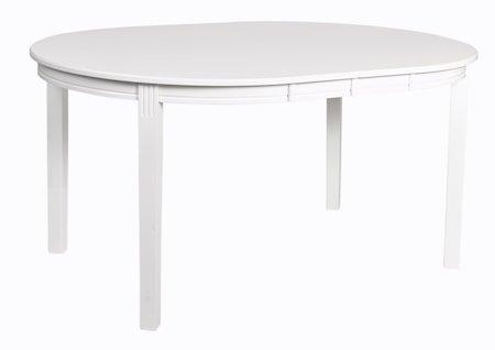 Wittskär Spisebord Ovalt Hvitlakkert 107x150 cm