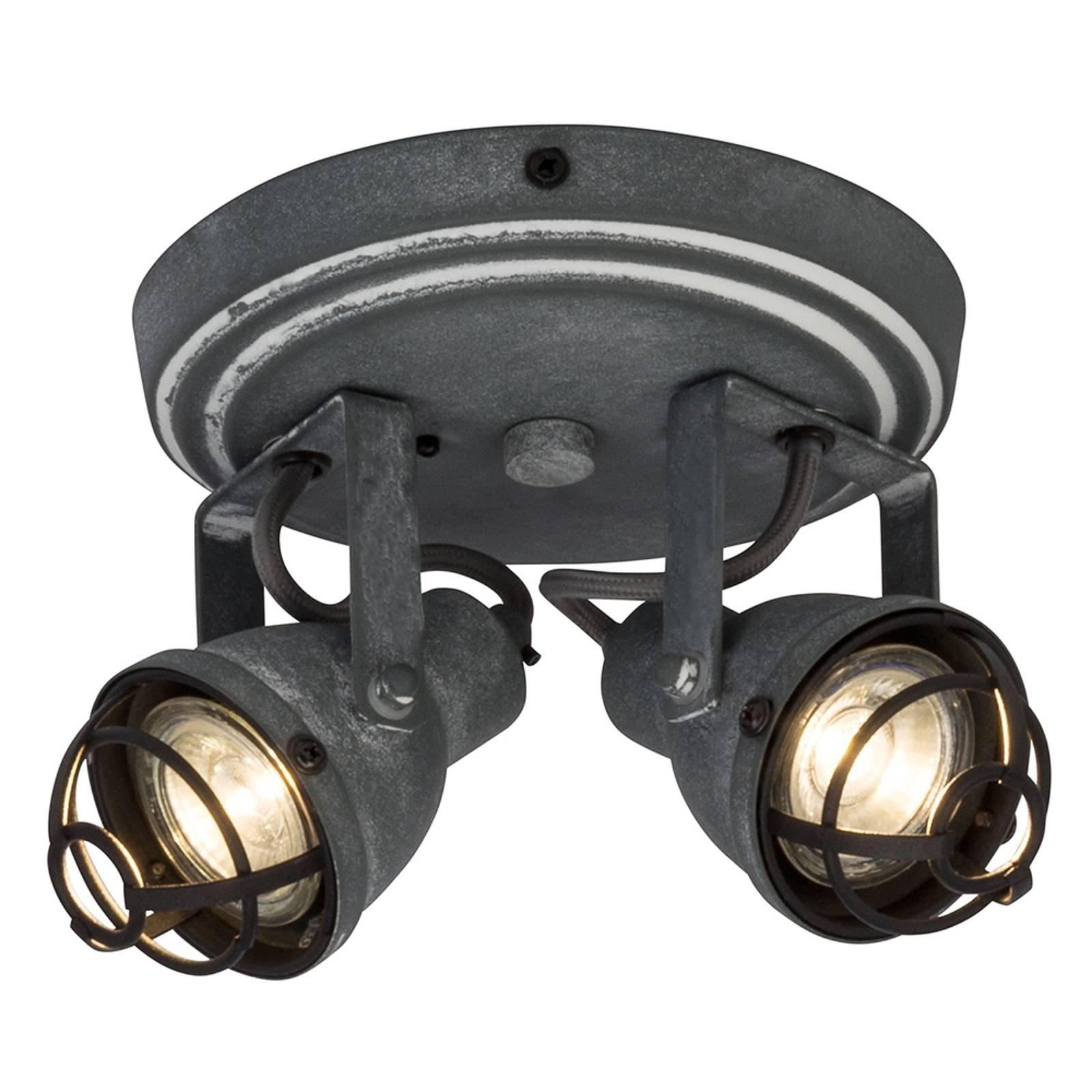 Sirkelformet takspot Bente med to LED spotter