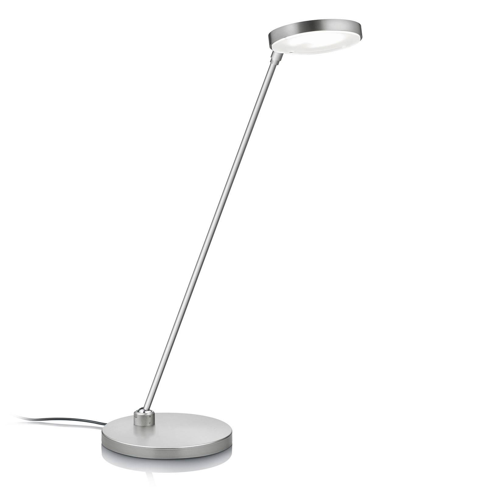LED-pöytälamppu Thea-T, matta nikkeli