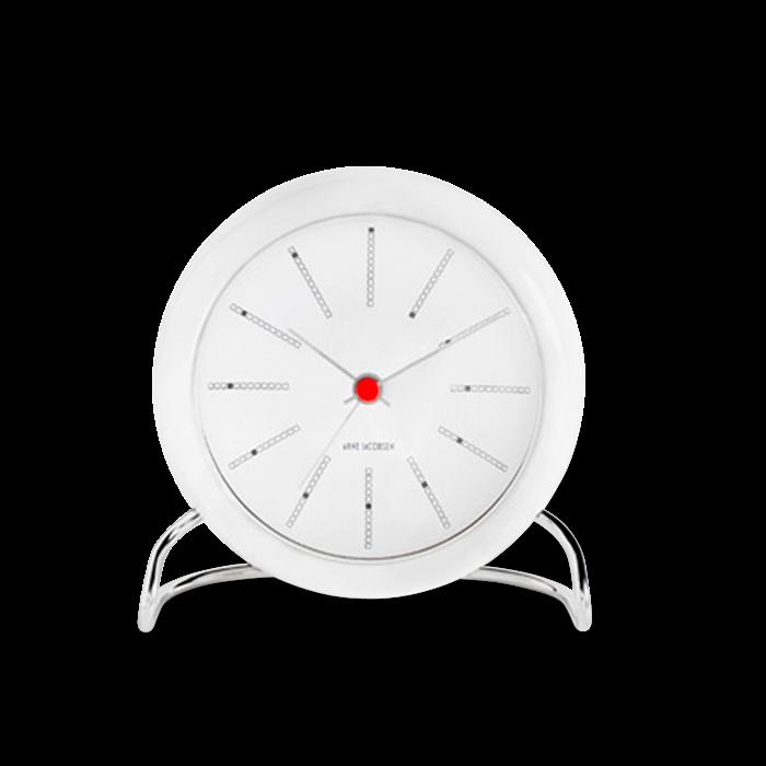Arne Jacobsen - Bankers Table Clock  - White (43675)