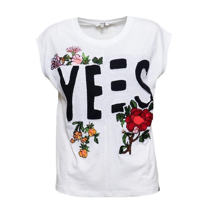 Desigual Women's T-Shirt White 173505 - white XS