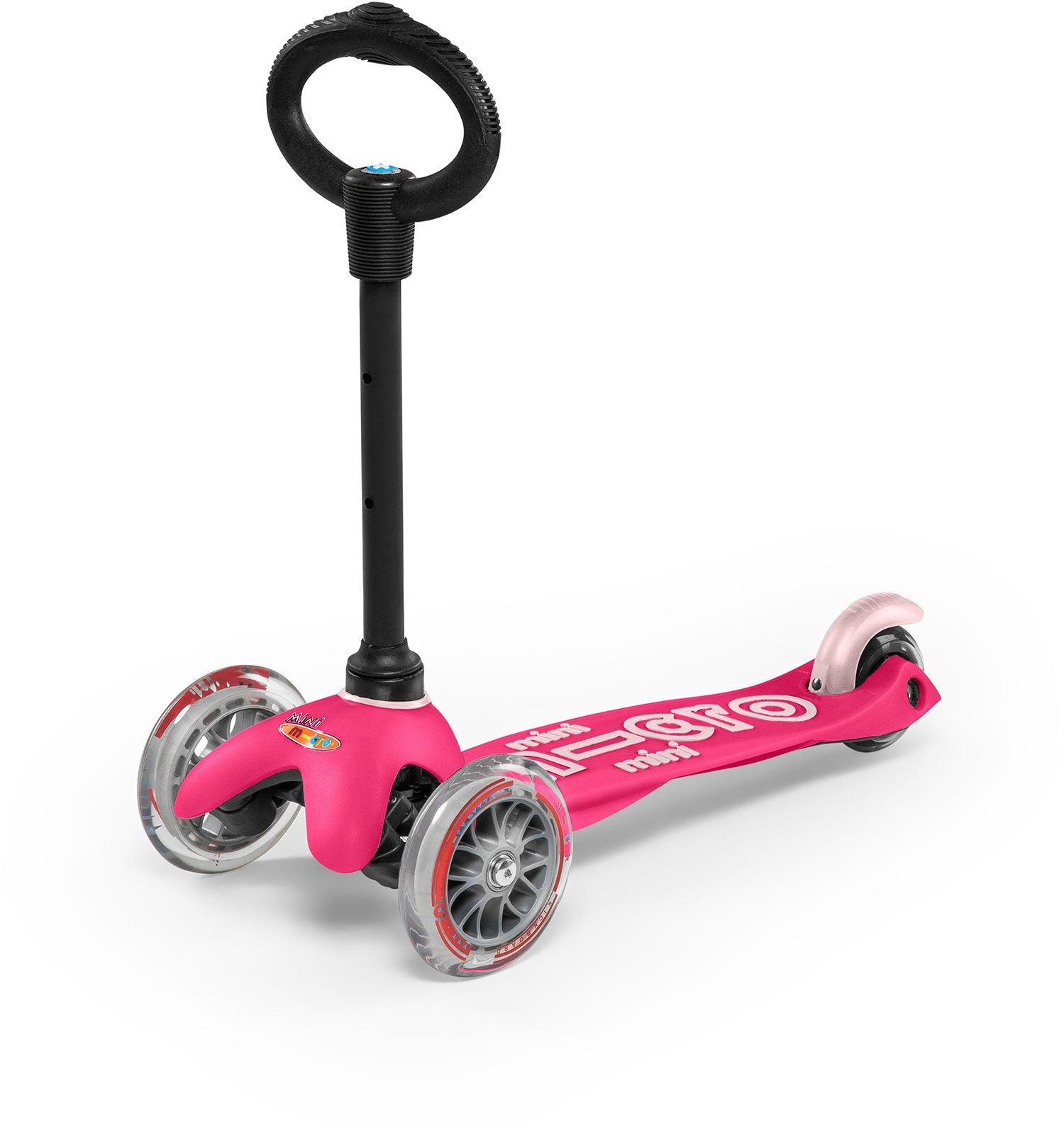 Micro Sparkcykel Trehjuling Mini 3-i-1 Deluxe, Rosa