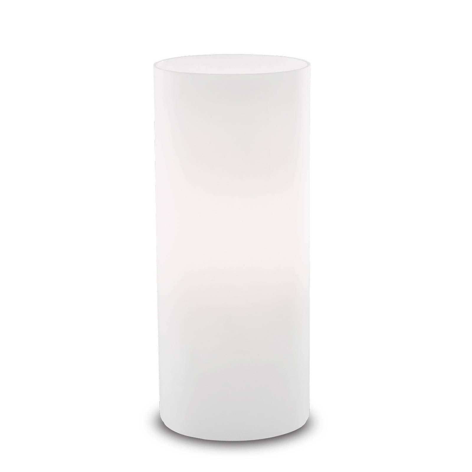 Bordlampe Edo av hvitt glass, høyde 23 cm
