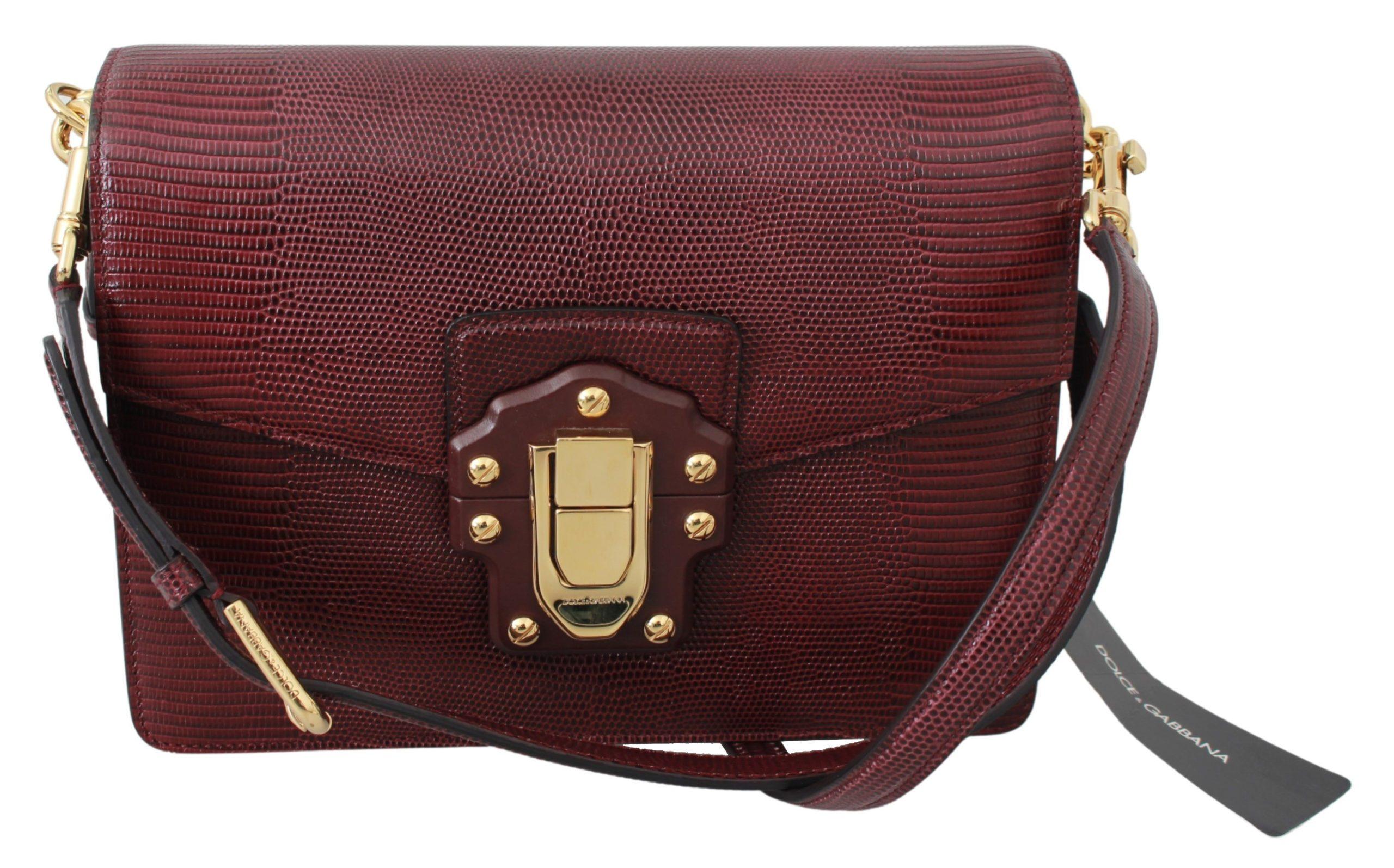 Dolce & Gabbana Women's Leather LUCIA Shoulder Bag Bordeaux VAS9404