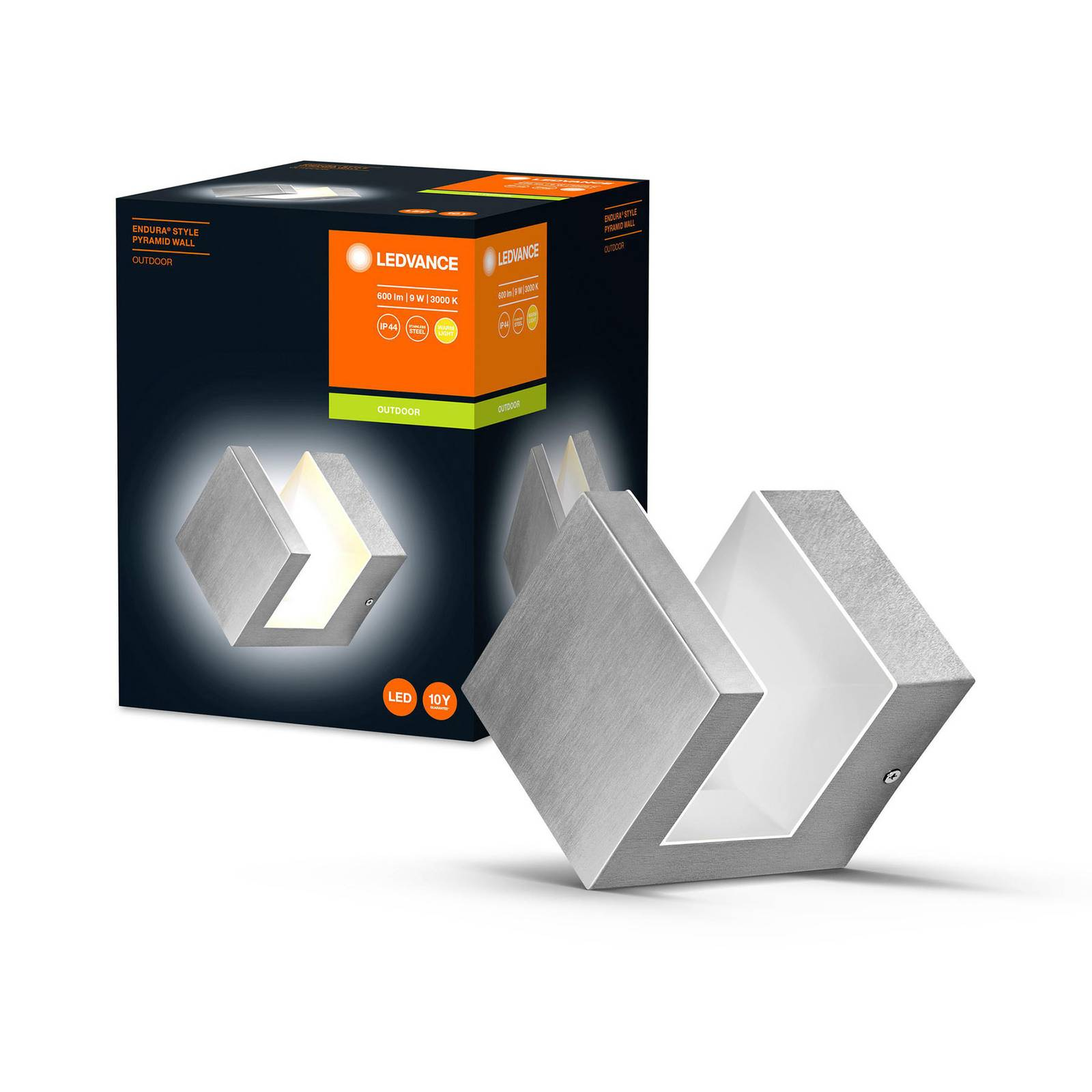Ledvance Endura Style Pyramid -LED-seinävalaisin